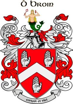 BYRNE family crest