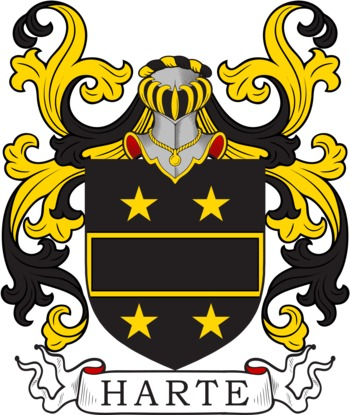 HARTE family crest