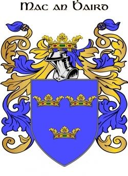 WARDE family crest